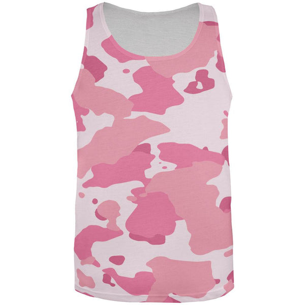 Pink Camo All Over Adult Tank Top