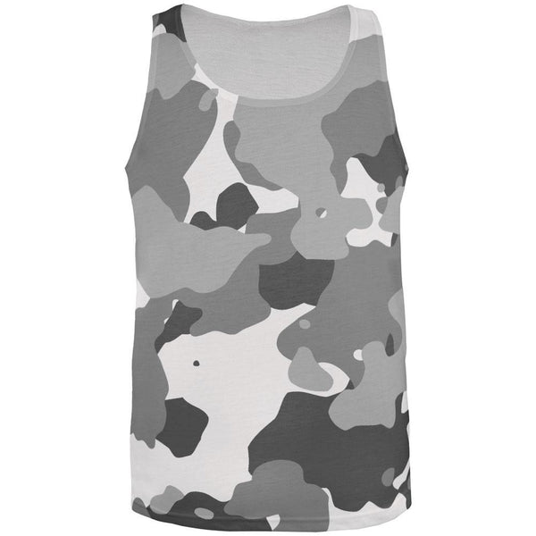 Grey Camo All Over Adult Tank Top