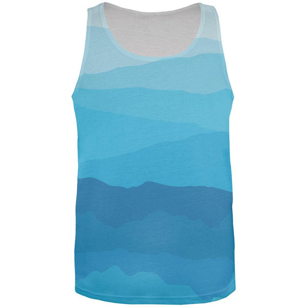 Mountain Range Vista All Over Adult Tank Top
