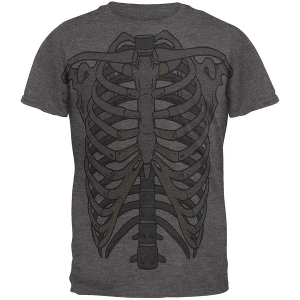 Rib Cage All Over Dark Heather Soft Adult T-Shirt