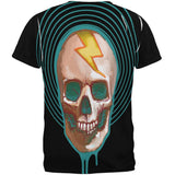 Electric Bolt Skull All Over Adult T-Shirt
