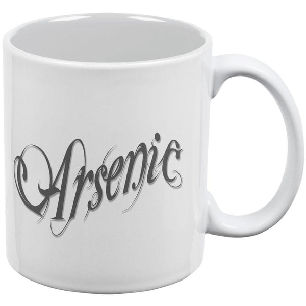 Arsenic Poison White All Over Coffee Mug