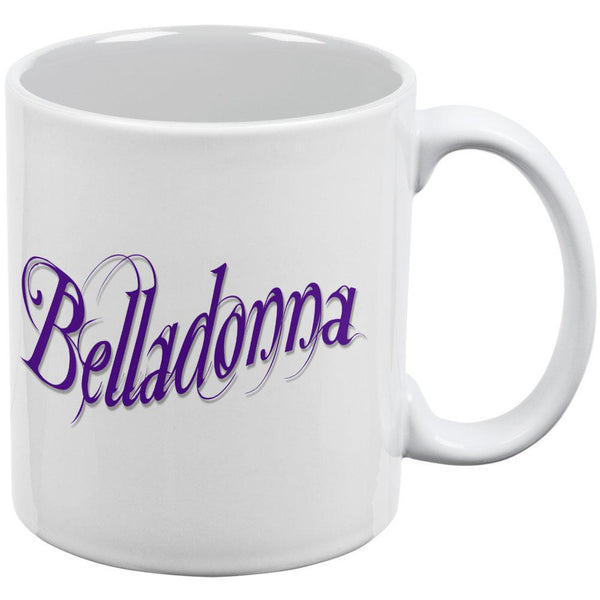 Belladonna Poison White All Over Coffee Mug