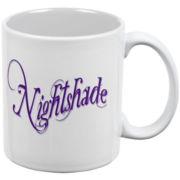 Nightshade Poison White All Over Coffee Mug