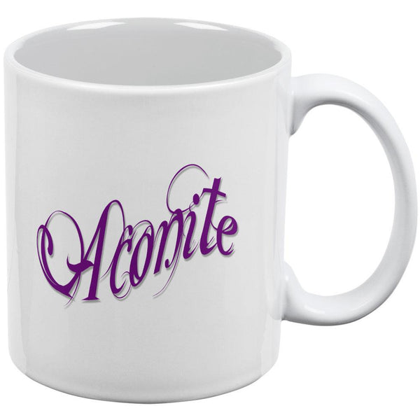 Aconite Poison White All Over Coffee Mug