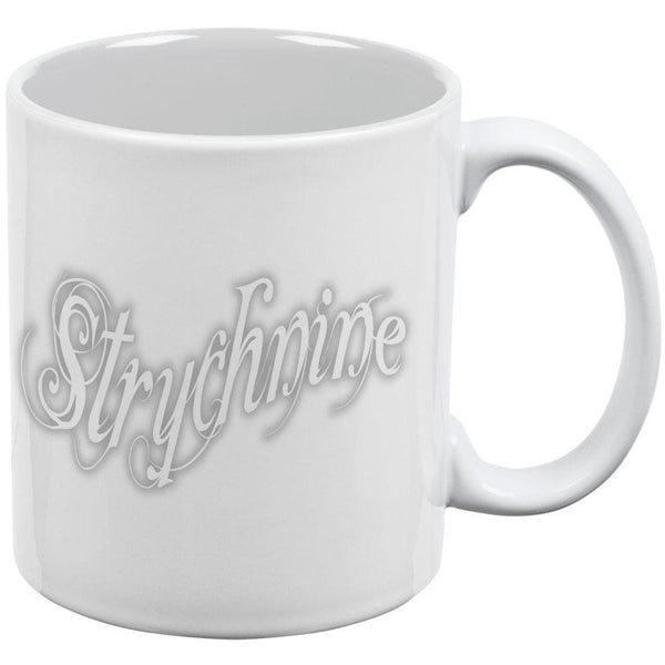 Strychnine Rat Poison White All Over Coffee Mug