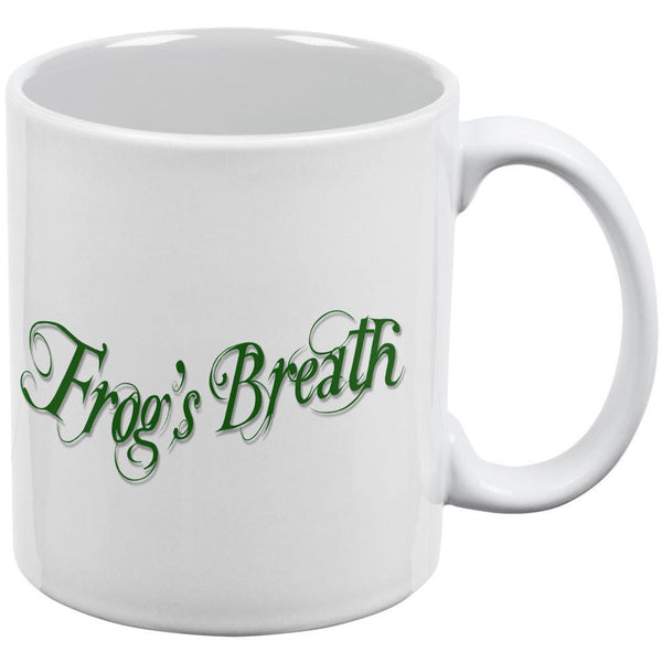 Frog's Breath Poison White All Over Coffee Mug