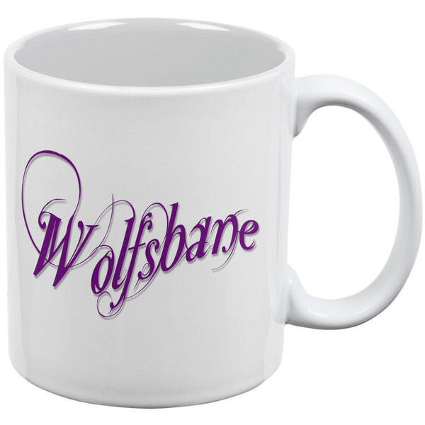 Wolfsbane Poison White All Over Coffee Mug