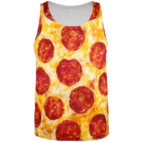Pepperoni Pizza Costume All Over Adult Tank Top