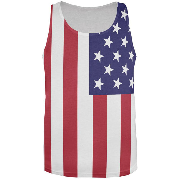 USA Flag All Over Adult Tank Top