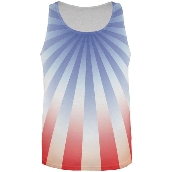 4th of July Patriot Starburst All Over Adult Tank Top