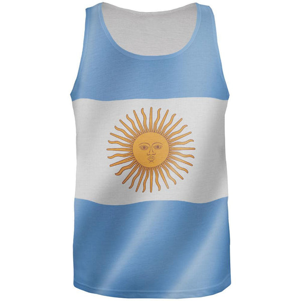 World Cup - Argentina Flag All Over Adult Tank Top