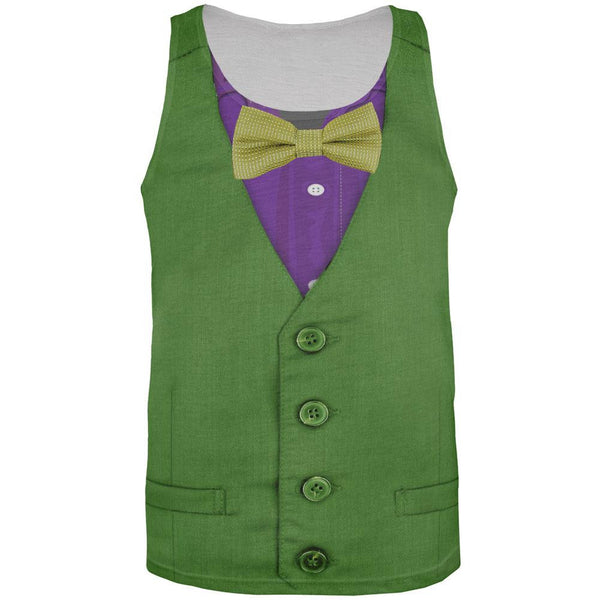 Mardi Gras Green and Purple Vest Costume All Over Adult Tank Top