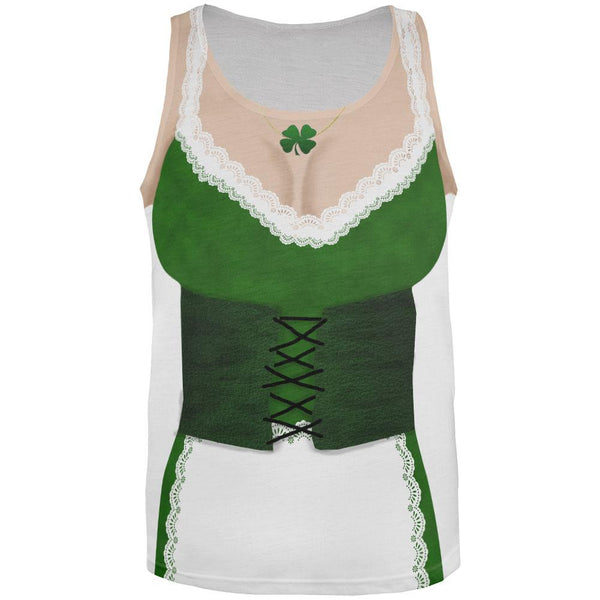 St. Patricks Day Sexy Irish Girl Costume All Over Adult Tank Top