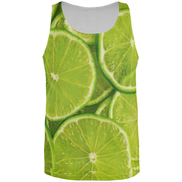 Lime Limes Citrus All Over Adult Tank Top