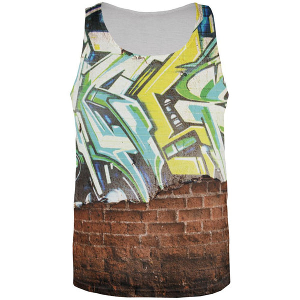 Graffiti All Over Adult Tank Top