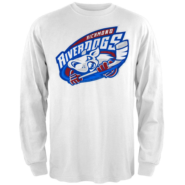 Richmond Riverdogs - Logo Long Sleeve White T-Shirt