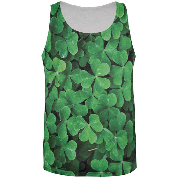 Shamrocks All Over Adult Tank Top