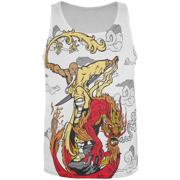 Enter the Dragon Monk All Over Adult Tank Top