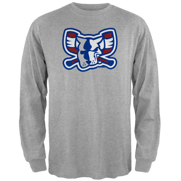 Richmond Riverdogs - Mad Dog Long Sleeve Grey T-Shirt