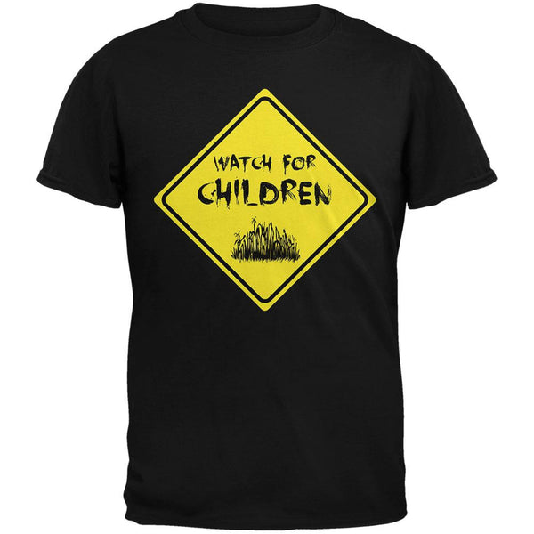 Watch For Children Horror Black Adult T-Shirt