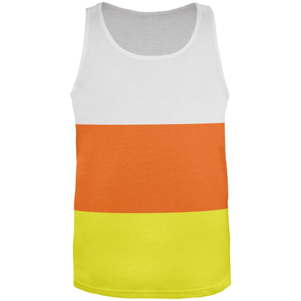 Halloween Candy Corn Costume All Over Adult Tank Top