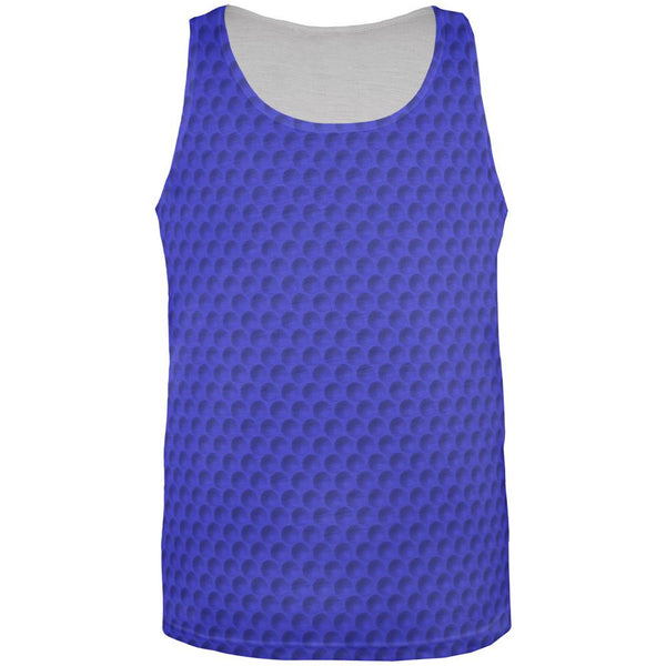 Golf Ball Blue All Over Adult Tank Top