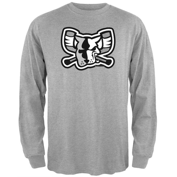 Richmond Riverdogs - Black and White Mad Dog Long Sleeve T-Shirt