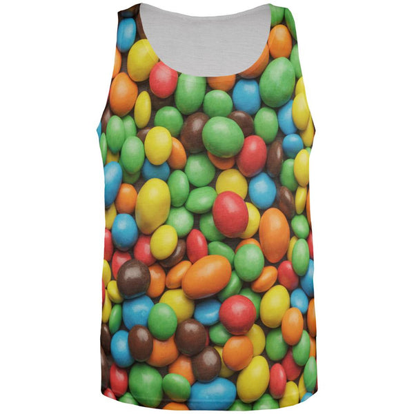 Candy Coated Chocolate All Over Adult Tank Top