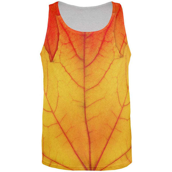 Halloween Autumn Fall Leaf All Over Adult Tank Top
