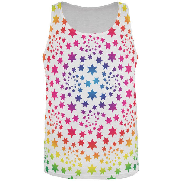 Rainbow Stars All Over Adult Tank Top