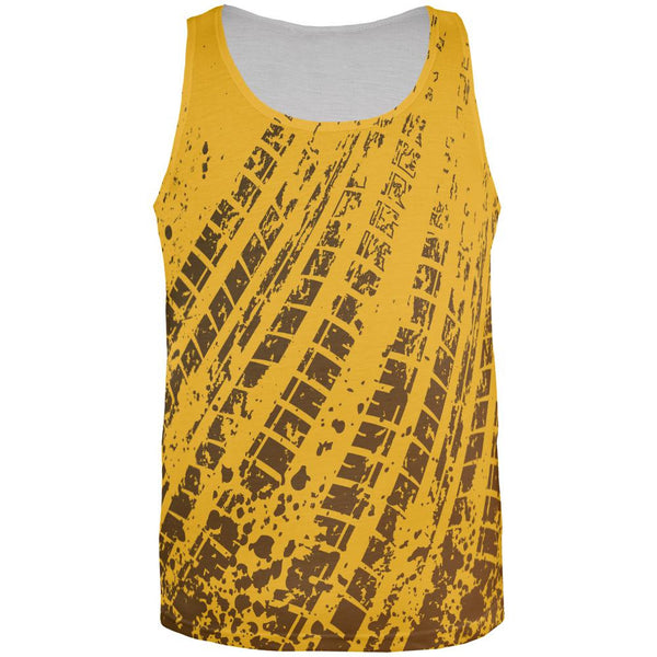 Mud and Tire Tracks All Over Adult Tank Top