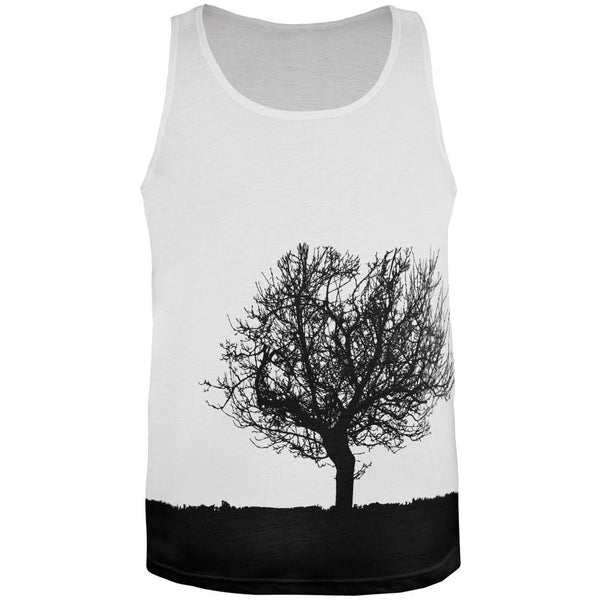 Tree Silhouette All Over Adult Tank Top