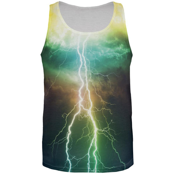Lightning All Over Adult Tank Top