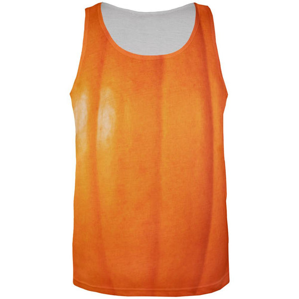 Halloween Pumpkin All Over Adult Tank Top