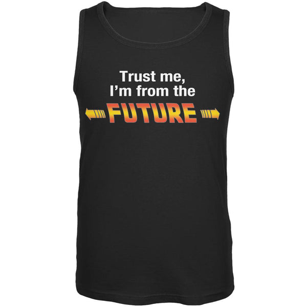 Trust Me Im from the Future Black Adult Tank Top