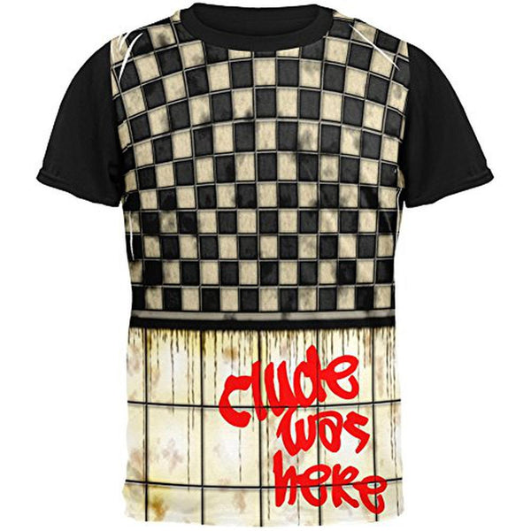CLYDE Was Here Graffiti Adult Black Back T-Shirt