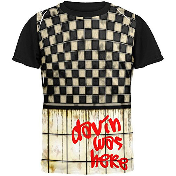 DAVIN Was Here Graffiti Adult Black Back T-Shirt
