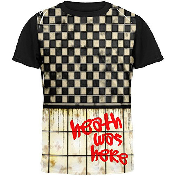 HEATH Was Here Graffiti Adult Black Back T-Shirt