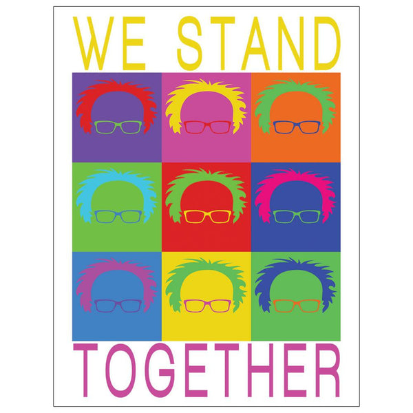 Election Bernie Sanders Pop Art Stand Together 4x3in. Decal Sticker