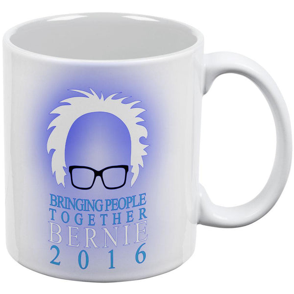 Election Bernie Sanders Minimalist Bringing People Together White Coffee Mug