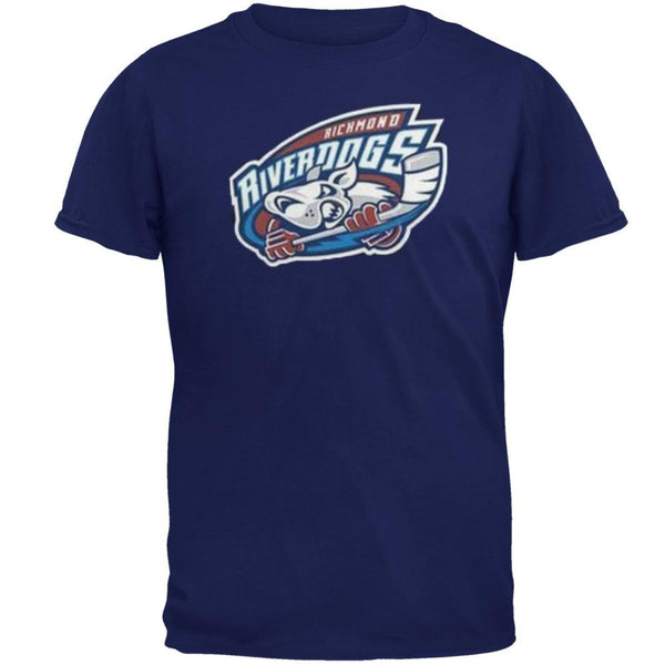 Richmond Riverdogs - Logo Navy Adult T-Shirt