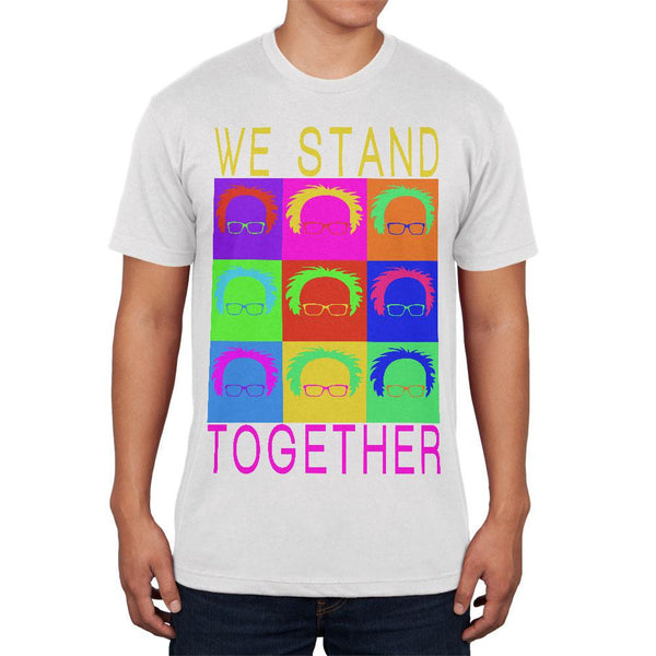 Election Bernie Sanders Pop Art Stand Together White Adult Soft T-Shirt