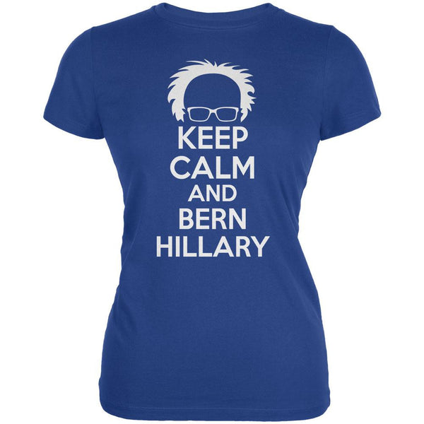 Election Keep Calm and Bern Hillary 2016 Royal Juniors Soft T-Shirt