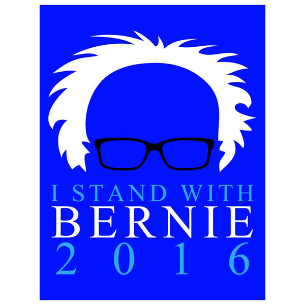 Election I Stand With Bernie Sanders Minimalist 4x3in. Decal Sticker