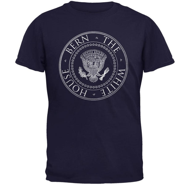Election 2016 Sanders Bern the White House Navy Adult T-Shirt