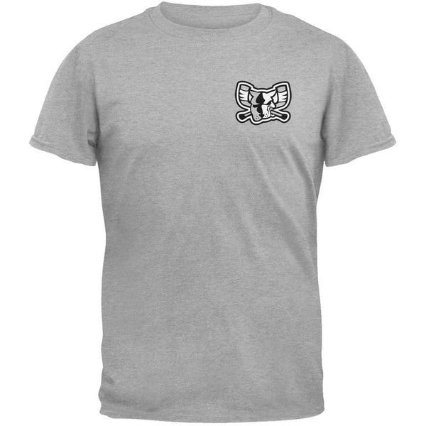 Richmond Riverdogs - Crest Print Mono Mad Dog Grey T-Shirt