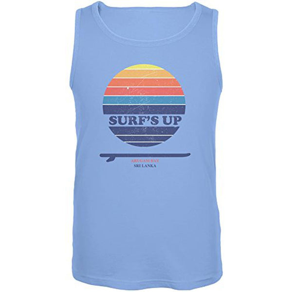 Surf's Up Arugam Bay Carolina Blue Adult Tank Top