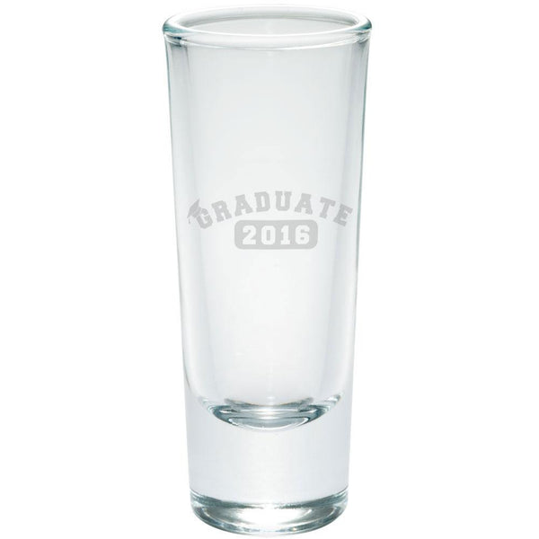 Graduation Graduate 2016 Etched Shot Glass Shooter