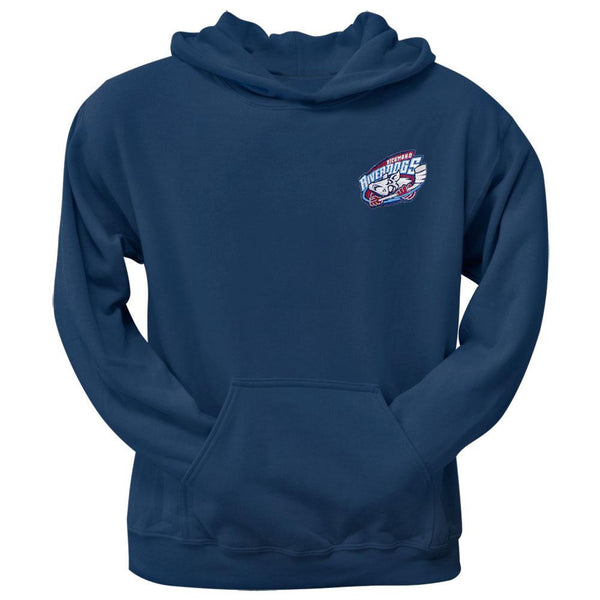 Richmond Riverdogs Embroidered Crest Logo Hoodie - Navy